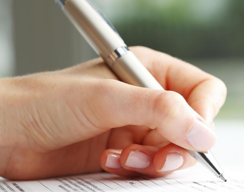 handtekening vrouw